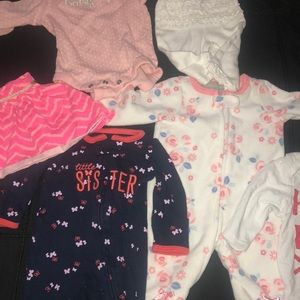 Other - Bundle of 6 newborn items! Skirt, one pieces, pant